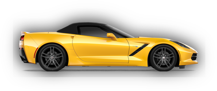 the 2018 Corvette from the side