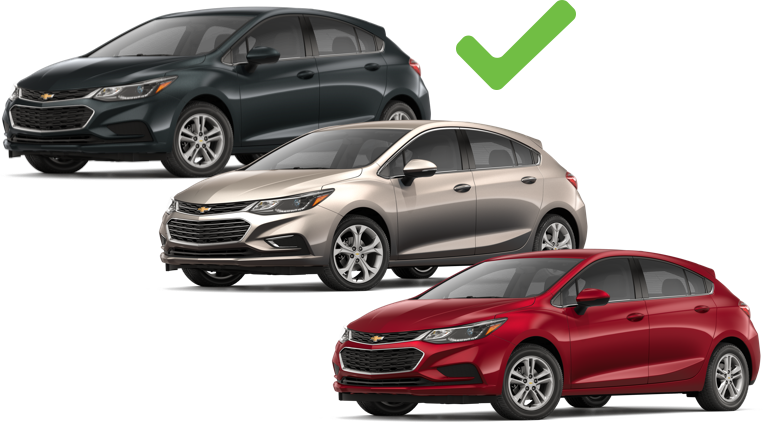 the Chevy Cruze comes in many shades