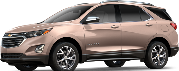a side view of the shiny new 2018 Chevy Equinox