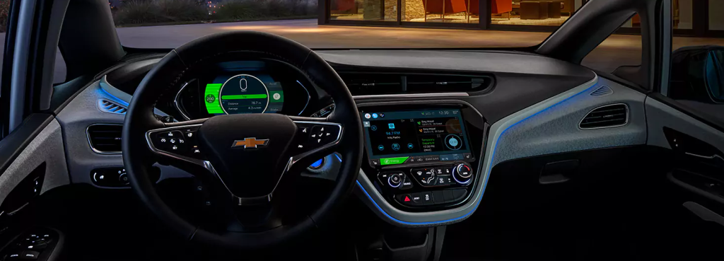 Valley Chevy - 2017 Chevrolet Bolt Interior at Night
