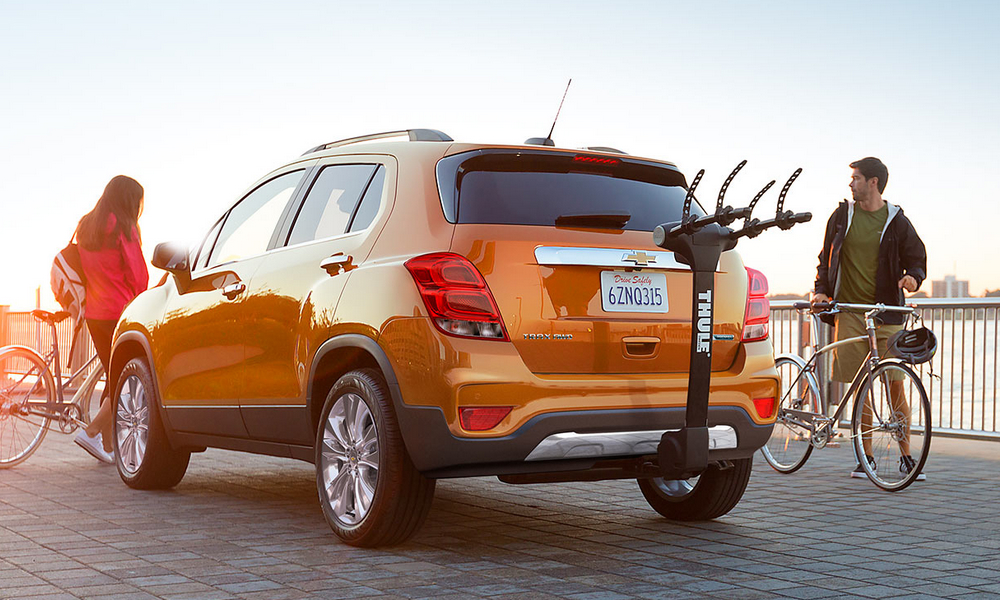 Valley Chevy - 2017 Chevrolet Trax in Orange with Bike Rack