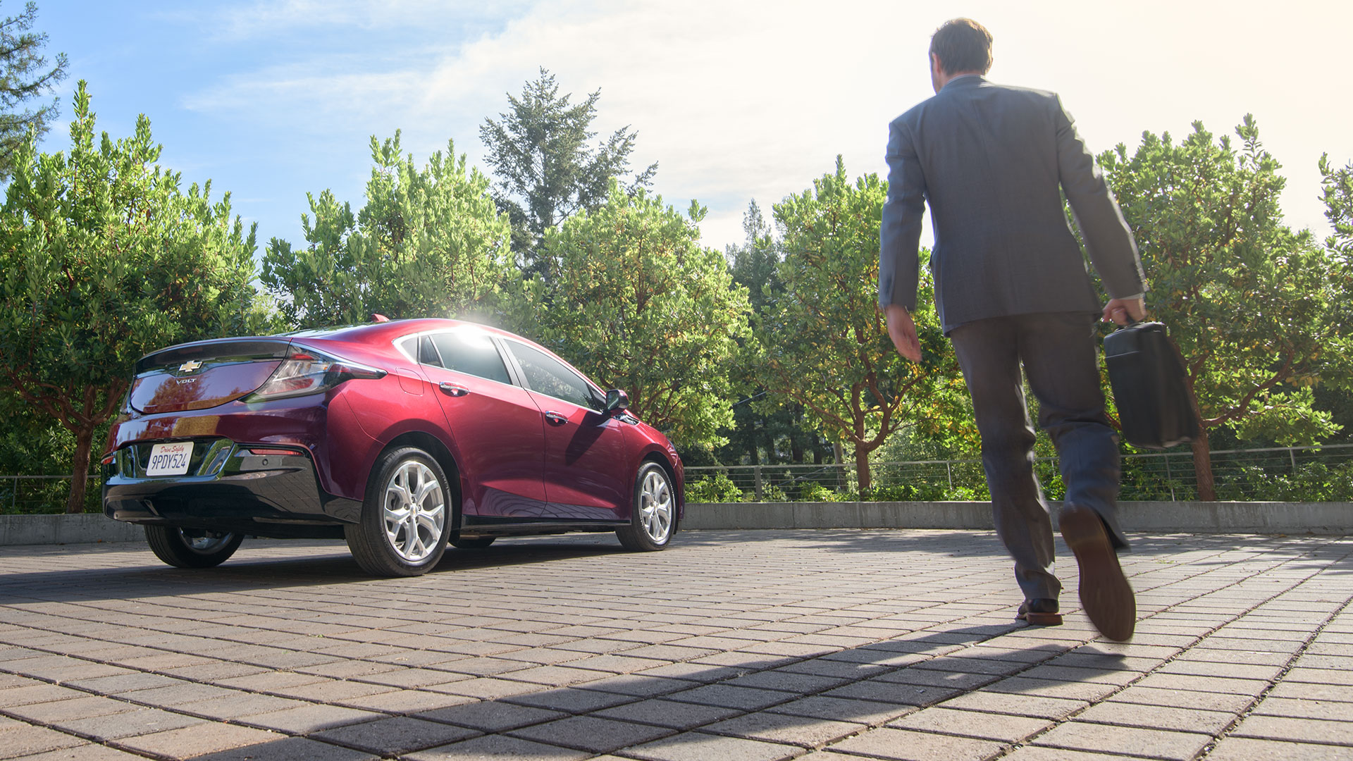 Valley Chevy - Chevrolet 2017 Volt: Red Car Parked