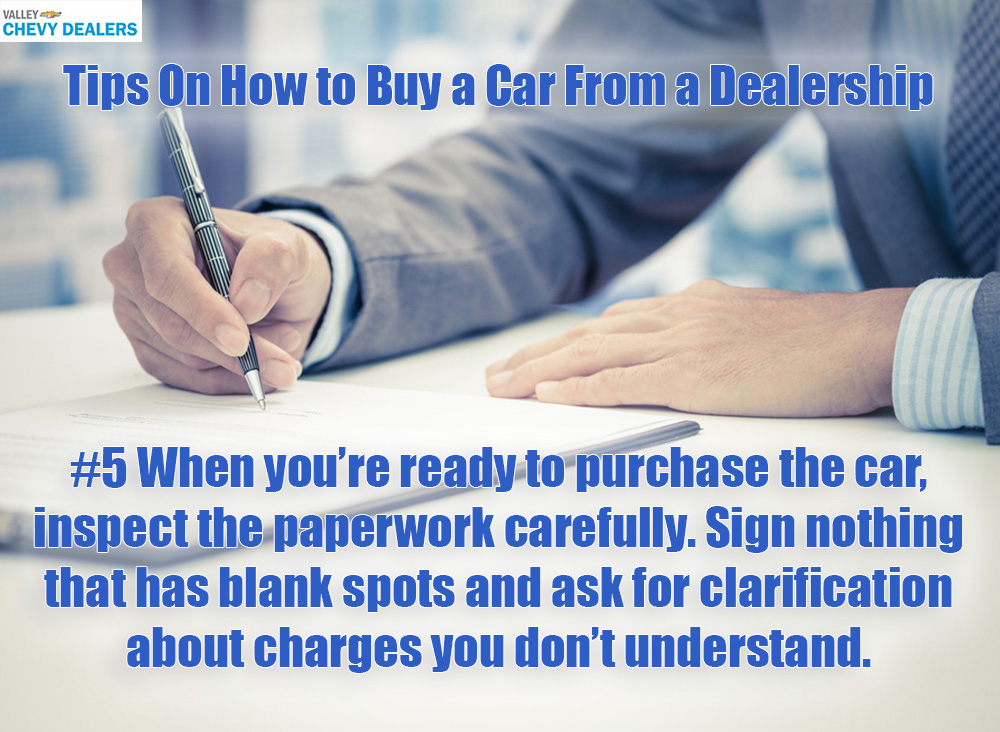 Valley Chevy in Phoenix: Tips on Buying a New Car From a Dealership - Paperwork