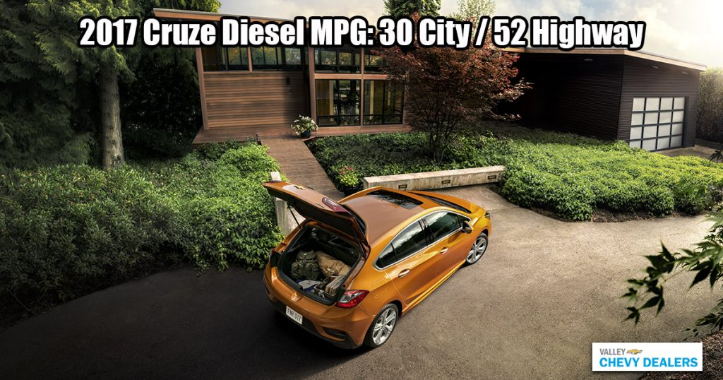 Valley Chevy - 2017 Chevrolet Cruze Gets Hybrid Car-Like Gas Mileage