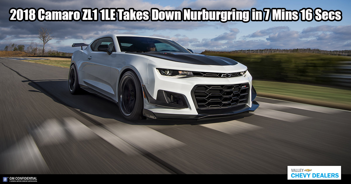 Chevrolet camaro zl1 1le just took down nrburgring 7m 16s video 2018 camaro zl1 1le conquers nrburgring voltagebd Image collections