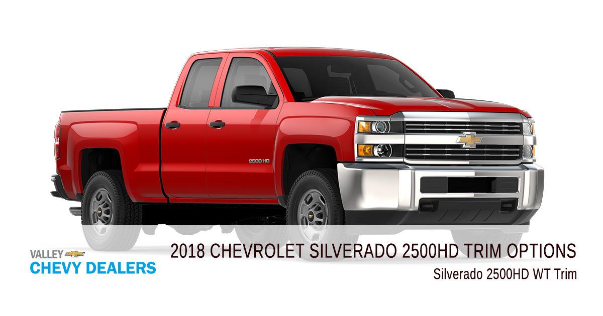 All 2018 Chevrolet Silverado 2500 Hd Trim Levels Compared Valley Chevy
