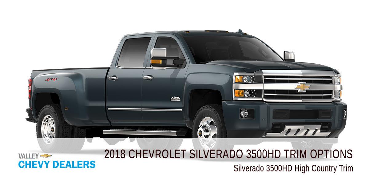 All 2018 Chevrolet Silverado 3500 Hd Trim Levels Compared