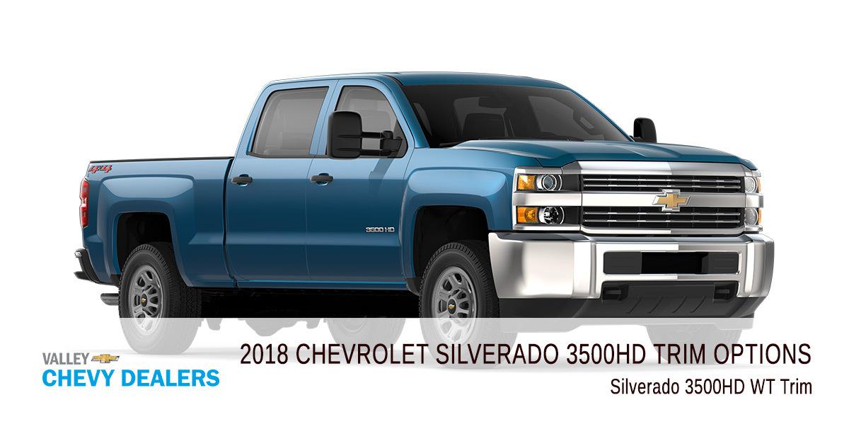 all 2018 chevrolet silverado 3500 hd trim levels compared. Black Bedroom Furniture Sets. Home Design Ideas