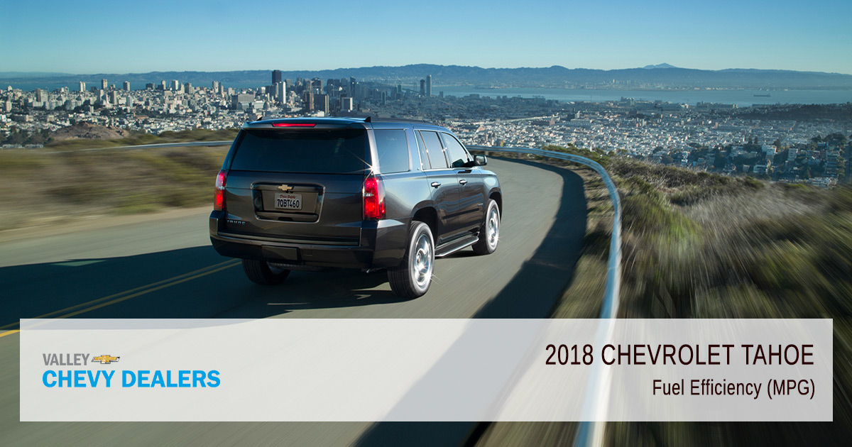 Chevy Tahoe Mpg >> 2018 Chevrolet Tahoe Fuel Economy Gas Mileage Mpg Valley Chevy