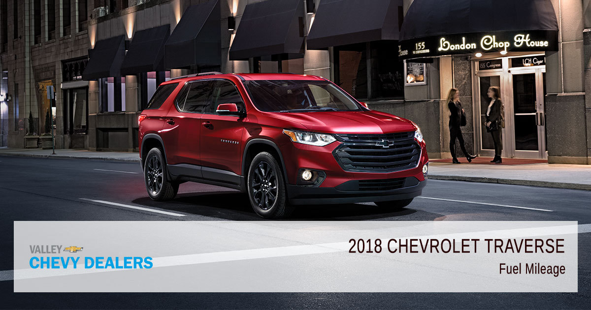 Chevy Traverse Mpg >> 2018 Chevrolet Traverse Fuel Economy Gas Mileage Mpg