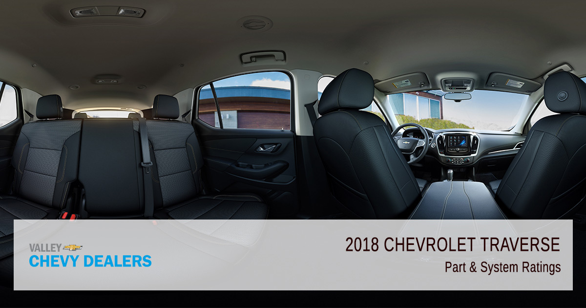 Valley Chevy - 2018 Chevy Traverse Reliability - Part Ratings