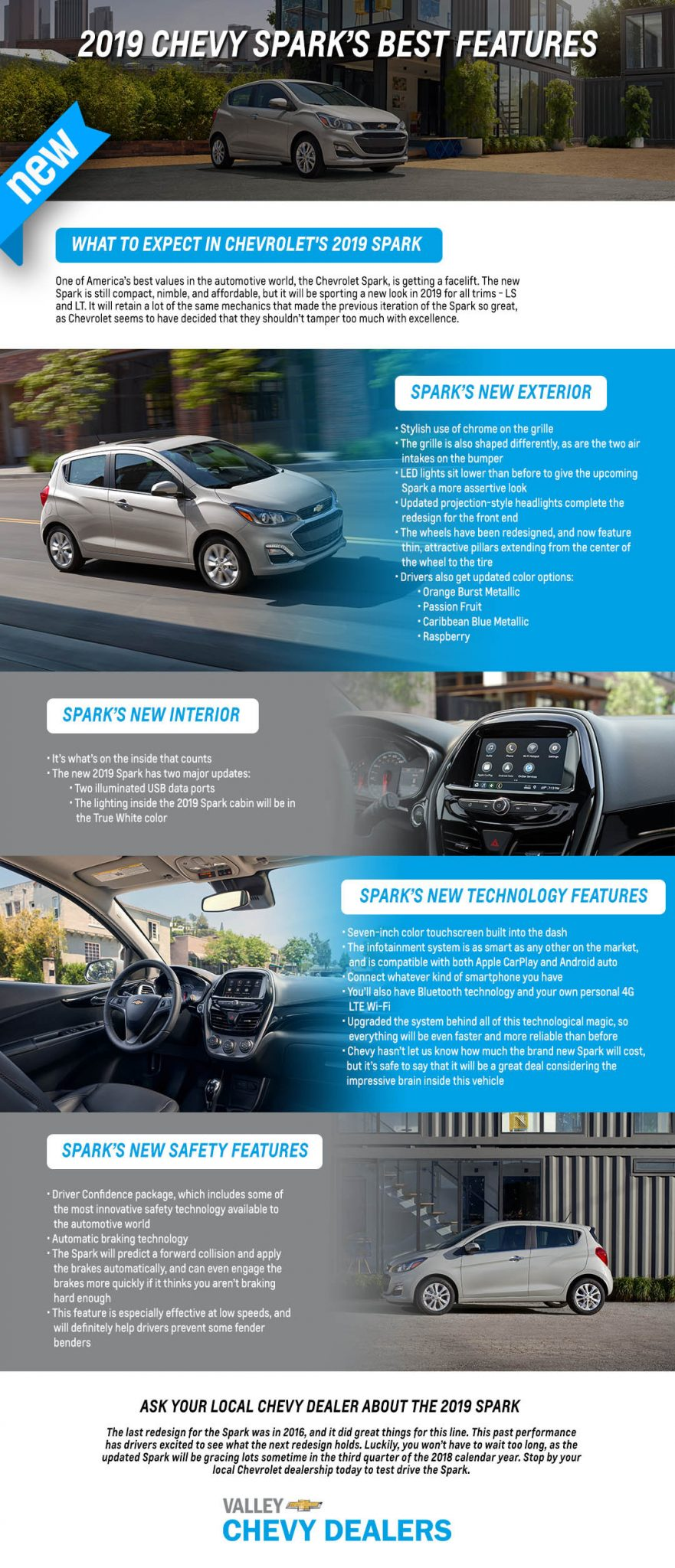 2019 Chevy Spark's Best Features