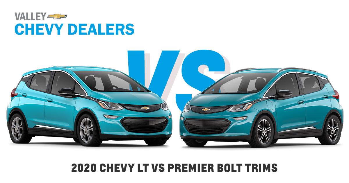 2020 Chevy Bolt Lt Vs Bolt Ev Premier Trims In Arizona Valley Chevy
