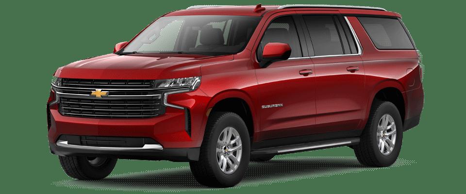 Valley Chevy - 2021 Chevrolet Suburban LT Red