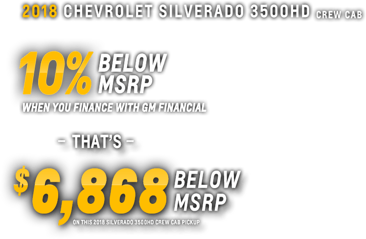 3500HD Crew Cab Incentive