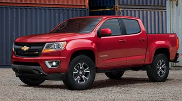 2018 Chevy Colorado in red