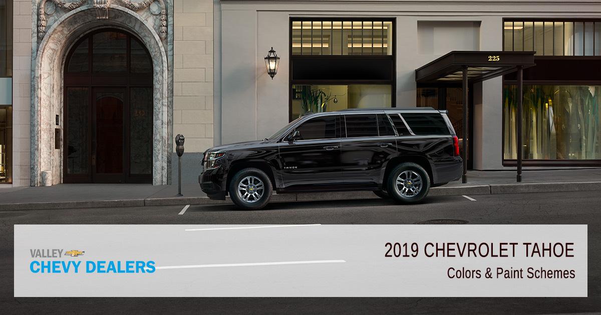 2019 Chevrolet Tahoe - Paint Schemes