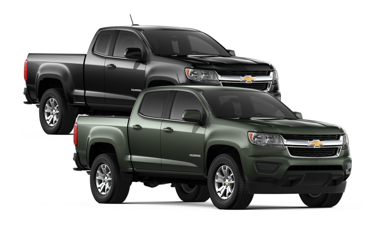 A Colorado Extended Cab and Standard Cab