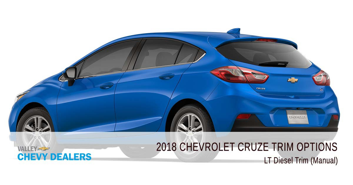 Valley Chevrolet - 2018 Trims Cruze - LT Diesel Trim (Manual)