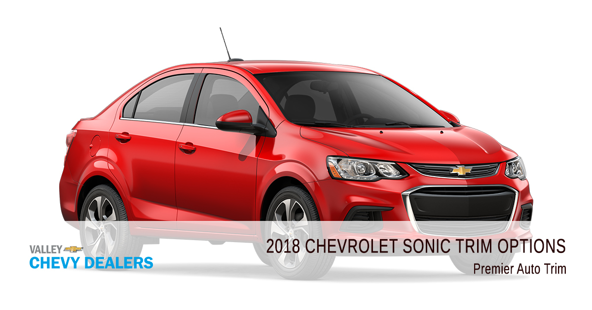 All 2018 Chevrolet Sonic Trim Levels Compared Valley Chevy