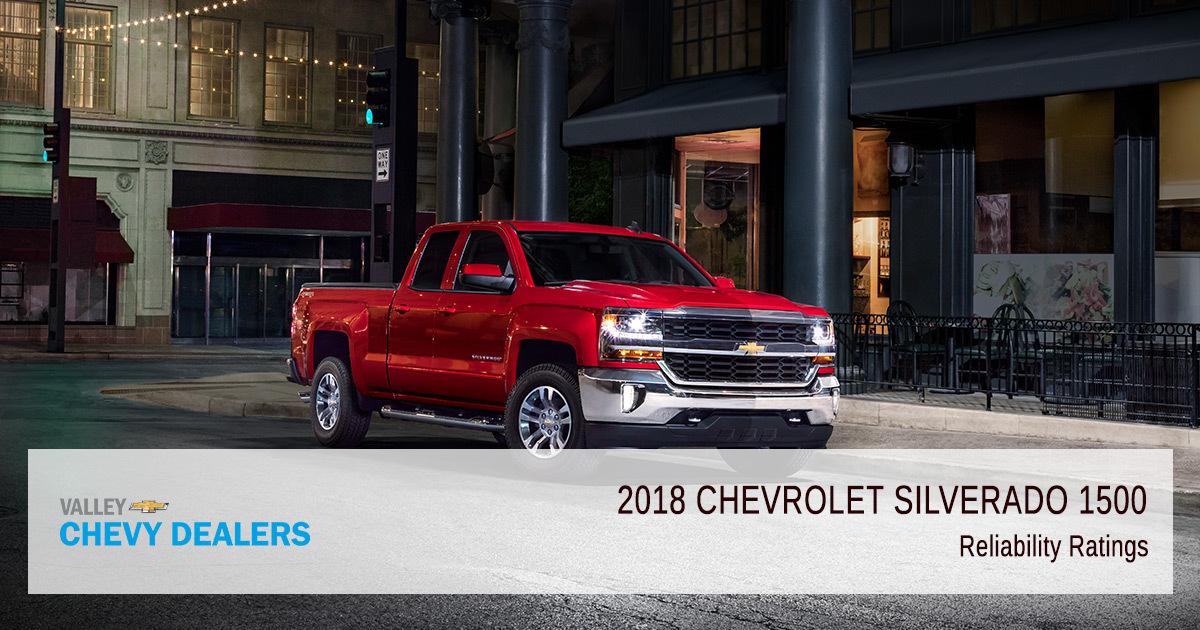 2018 Chevrolet Silverado 1500 Reliability & Satisfaction Ratings - Reliable
