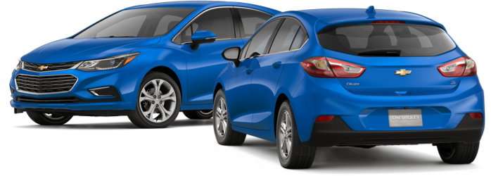 The 2018 Chevy Cruze Hatchback in blue