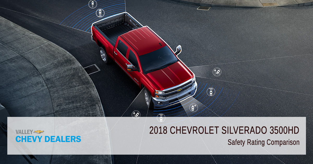 2018 Chevy Silverado 3500HD Safety Rating - Safety Comparison