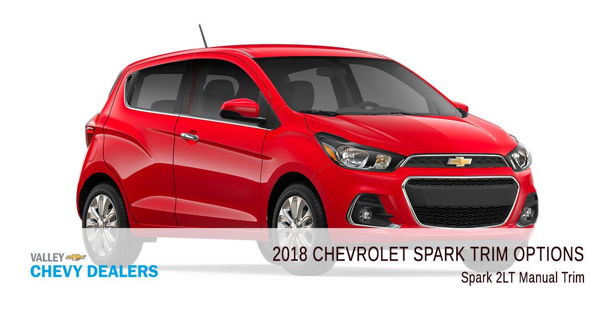 2018 Chevy Spark Trims Options - 2LT Manual