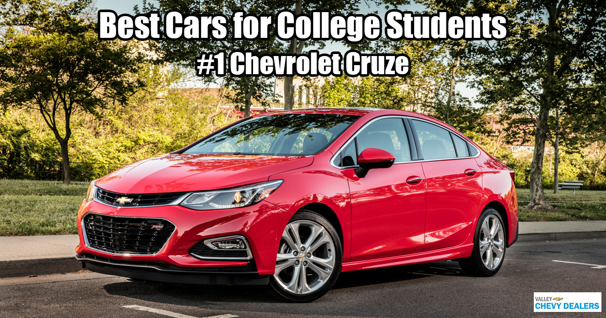 Valley Chevrolet in Phoenix - Which Car is Best for a College Student? - Chevy Cruze