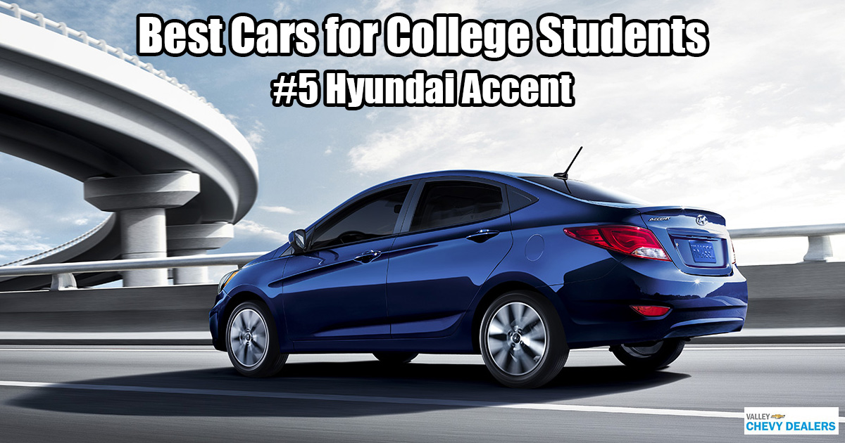 Valley Chevrolet in Phoenix - Which Car is Best for a College Student? - Hyundai Accent