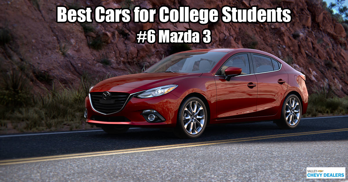 Valley Chevrolet in Phoenix - Which Car is Best for a College Student? - Mazda 3
