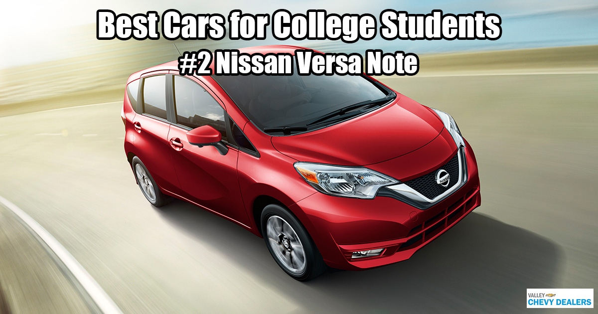Valley Chevrolet in Phoenix - Which Car is Best for a College Student? - Nissan Versa Note