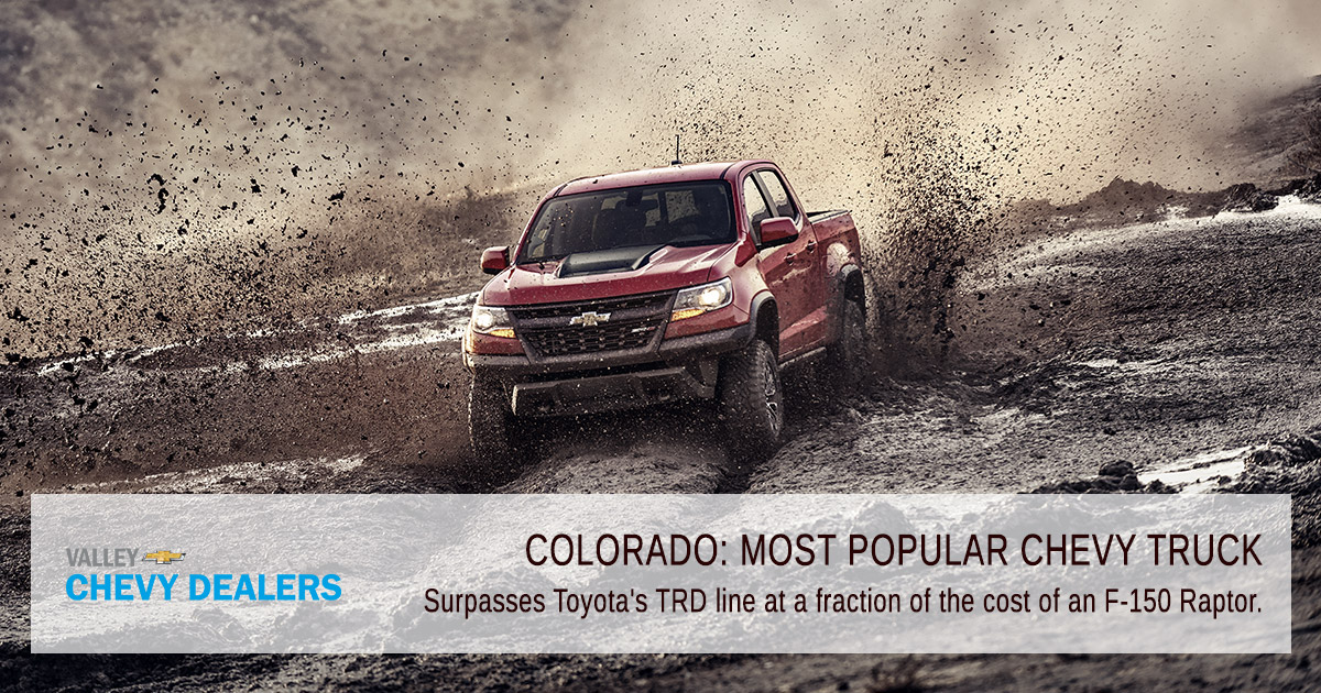 Valley Phoenix Chevrolet - What is the Most Popular Chevy Truck? - Offroad