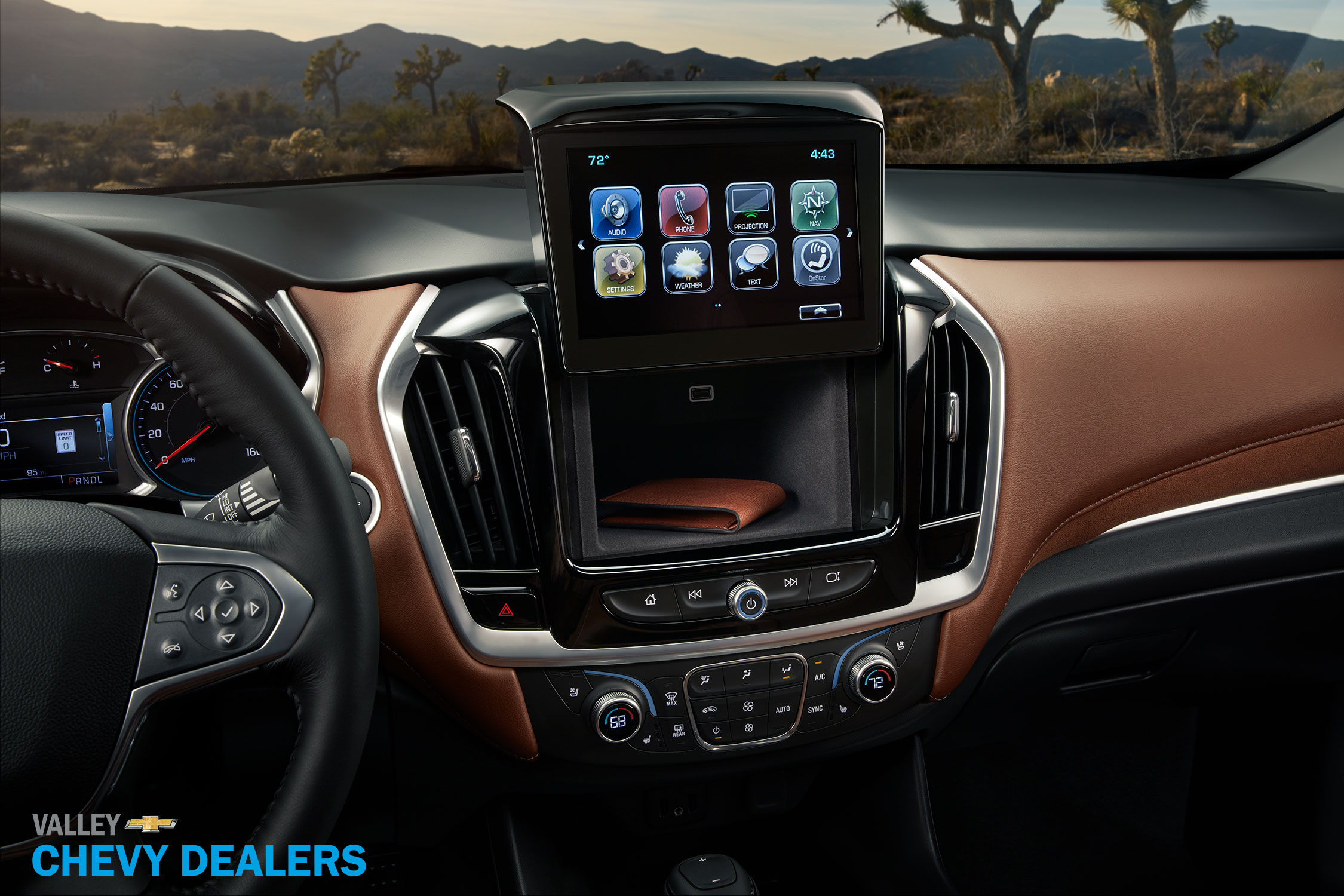 Valley Chevy - 2017 Chevrolet Traverse: Wallet Storage Compartment
