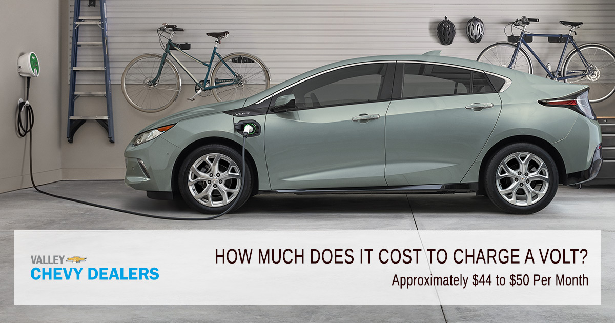 Valley Chevy How Much Does It Cost To Charge A Volt