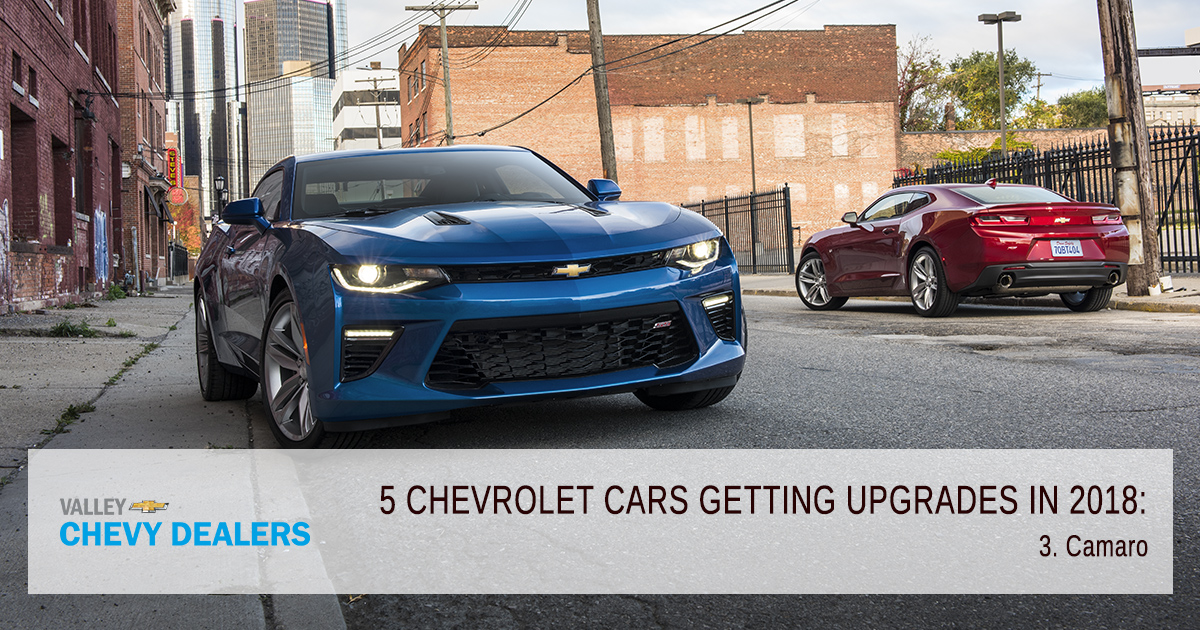 Valley Chevy - 5 Chevrolet Cars Getting Major Upgrades in 2018: Camaro