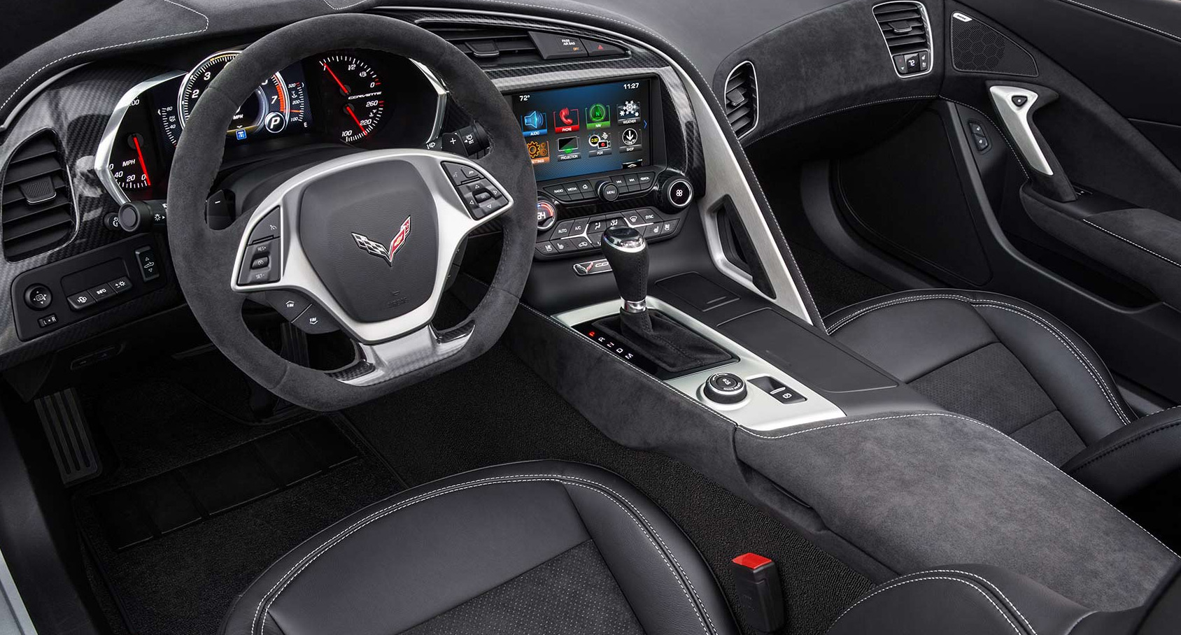 Valley Chevy - Man Buying New Chevrolet Vehicle: Corvette Interior
