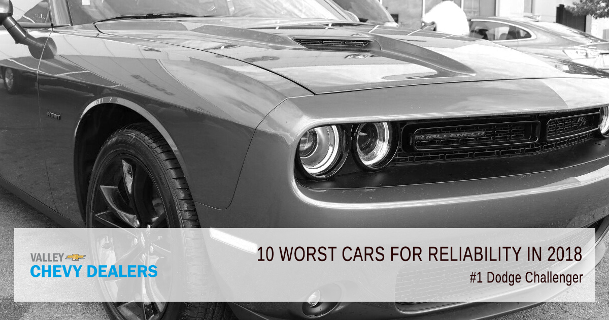Valley Chevy in Phoenix - 10 Worst Cars for Reliability in 2018: Dodge Challenger