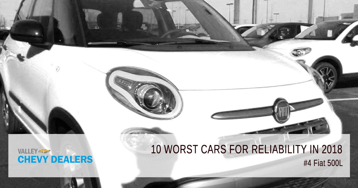 Valley Chevy in Phoenix - 10 Worst Cars for Reliability in 2018: Fiat 500L