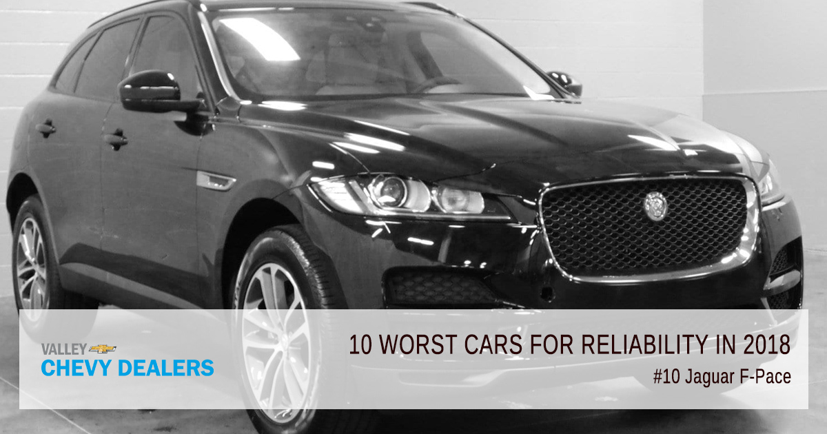 Valley Chevy in Phoenix - 10 Worst Cars for Reliability in 2018: Jaguar F-Pace