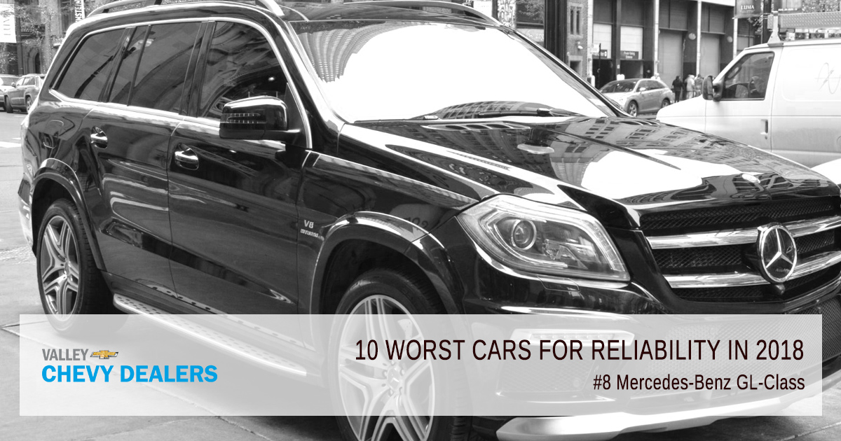 Valley Chevy in Phoenix - 10 Worst Cars for Reliability in 2018: Mercede-Benz GL63