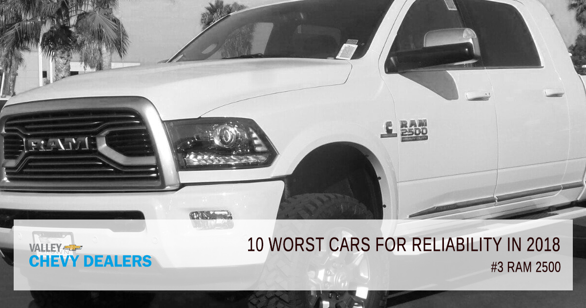 Valley Chevy in Phoenix - 10 Worst Cars for Reliability in 2018: RAM 2500