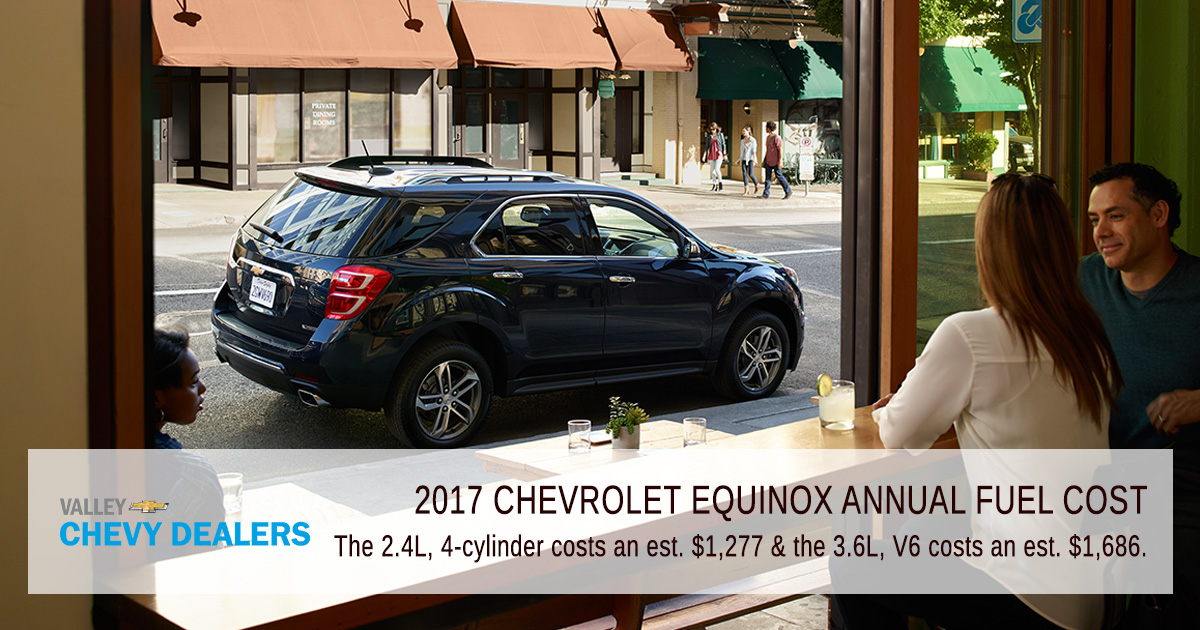 2017 chevrolet equinox mpg el costo anual de combustible valle de chevy. Black Bedroom Furniture Sets. Home Design Ideas