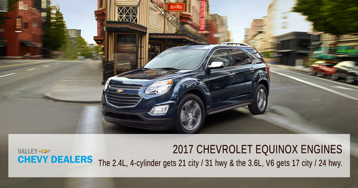 Valley Chevy Group - 2017 Chevrolet Equinox MPG & Annual Fuel Cost: Engines