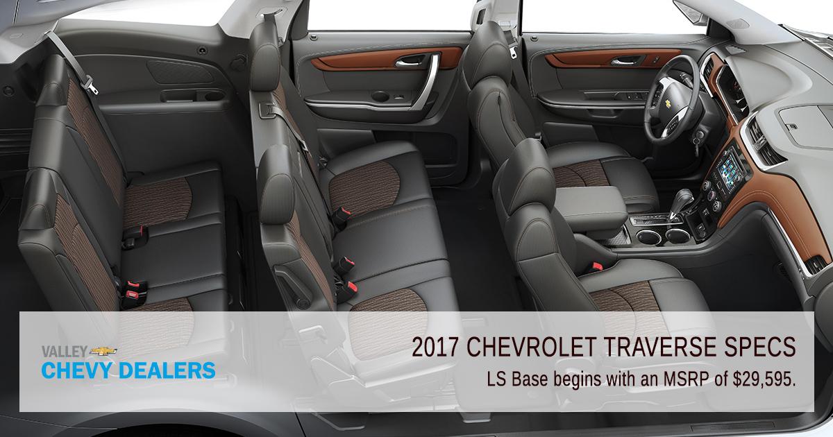 Valley Chevy Phoenix 2017 Chevy Traverse Specs Standard