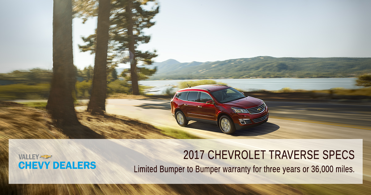 Valley Chevy Phoenix 2017 Chevy Traverse Specs Warranty