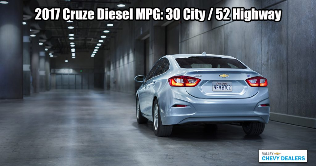 Valley Chevy - 2017 Chevrolet Cruze Gets Hybrid Car-Like Gas Mileage MPG