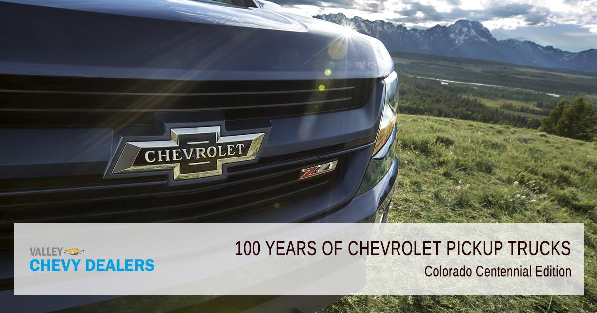 Valley Chevy - 2018 Centennial 100 Years Pickup Trucks - Colorado