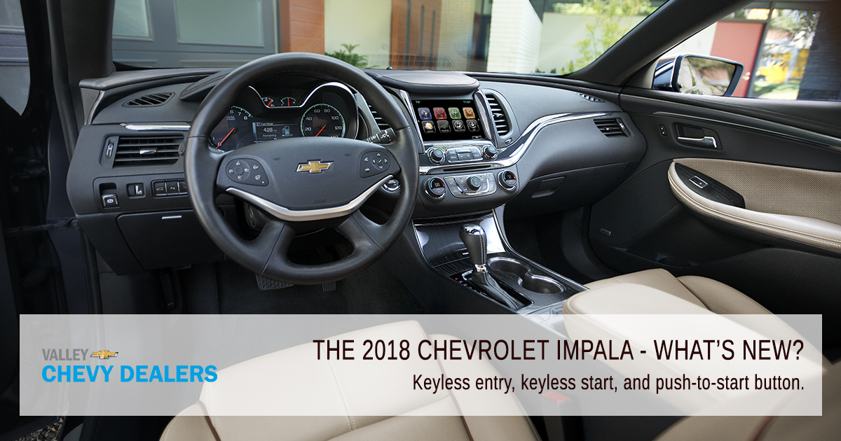 Valley Chevy PHX - 2018 Chevrolet Impala What's New? - Start