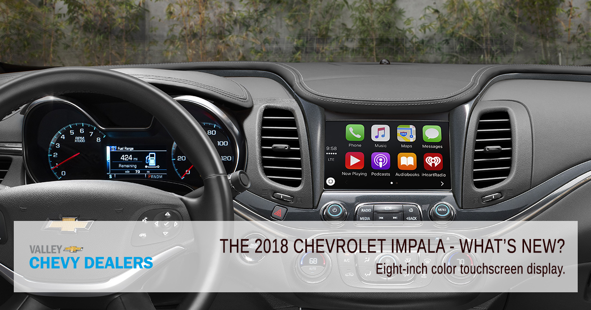 Valley Chevy PHX - 2018 Chevrolet Impala What's New? - Touchscreen